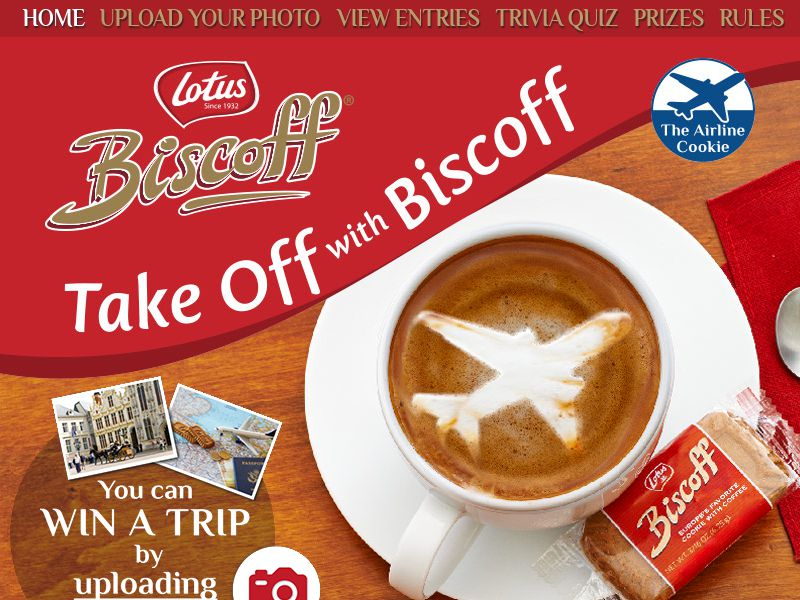 Take Off With Biscoff Contest