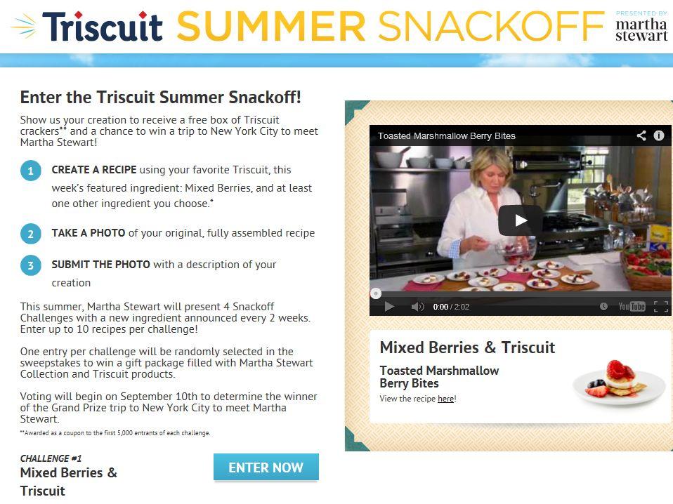 Triscuit Summer Snackoff Contest