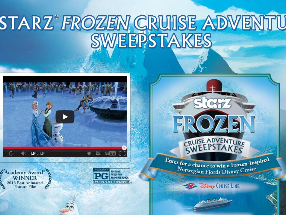 Starz Frozen Cruise Adventure Sweepstakes