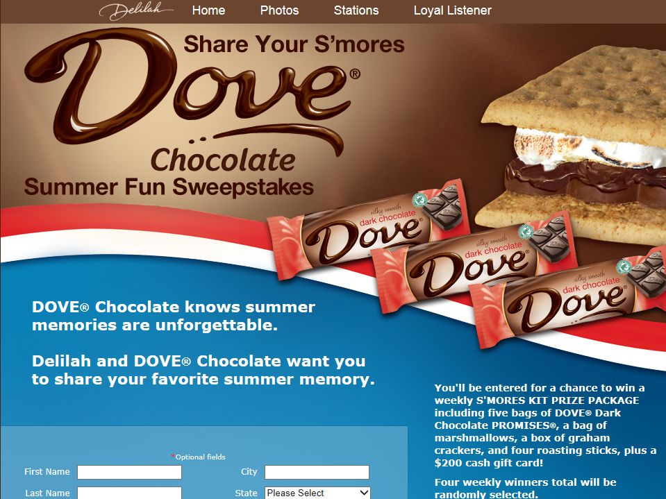 Delilah's Share Your S'mores Summer Fun Sweepstakes