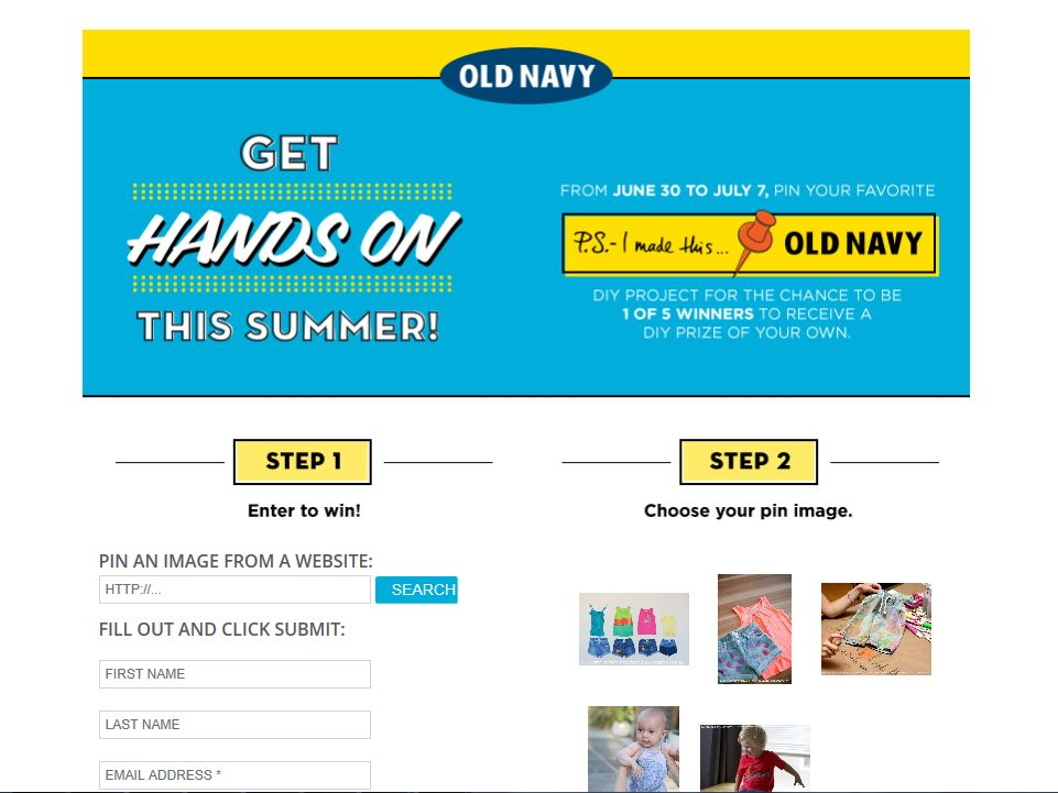 Old Navy & PSIMT Pinterest DIY Sweepstakes
