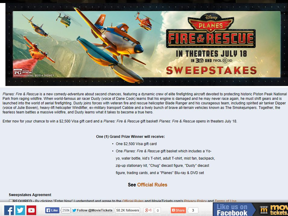 "The ""Planes: Fire & Rescue"" Sweepstakes"