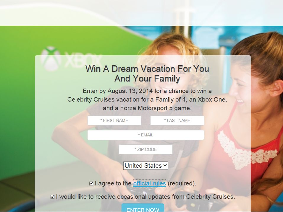 Celebrity Cruises Get In The Game Sweepstakes