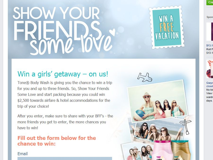 Tone Show Your Friends Some Love Sweepstakes