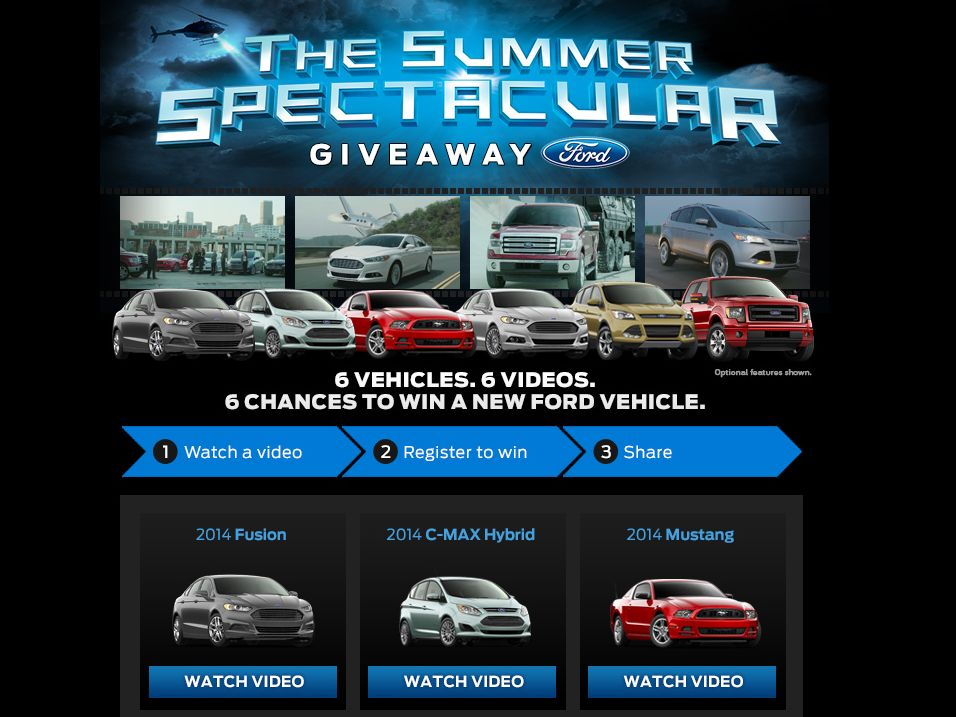 2014 Ford Summer Spectacular Giveaway