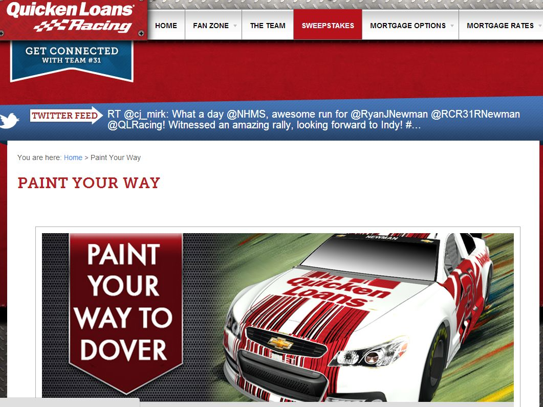 Quicken Loans Paint Your Way to Dover Contest