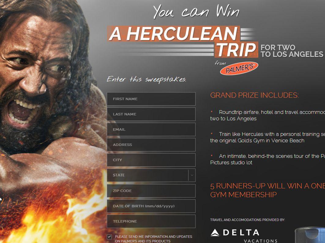 Palmer's Herculean Trip Giveaway