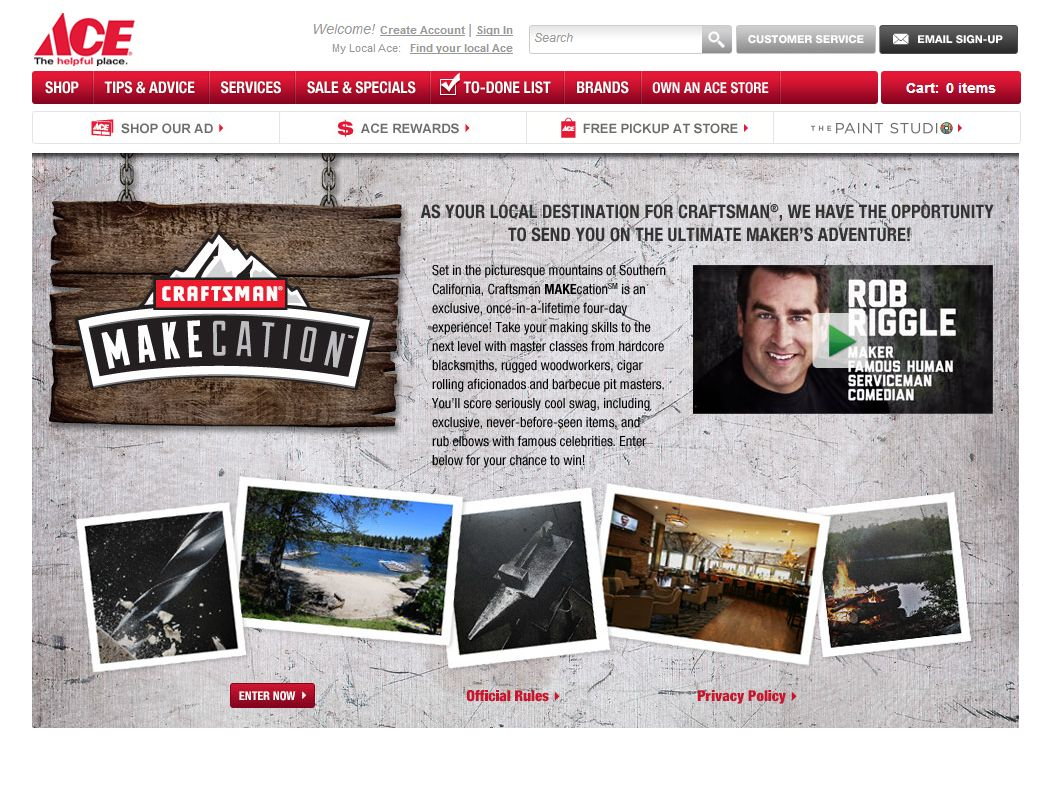 Craftsman MAKEcation Sweepstakes