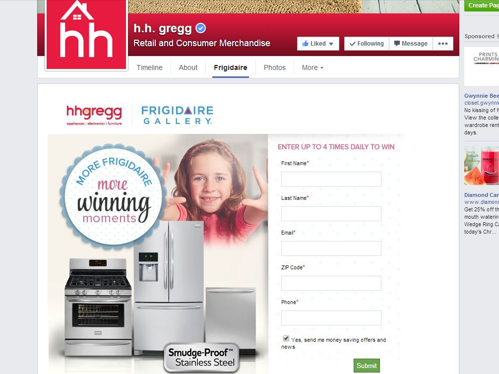 hhgregg More Frigidaire. More Winning Moments! Sweepstakes