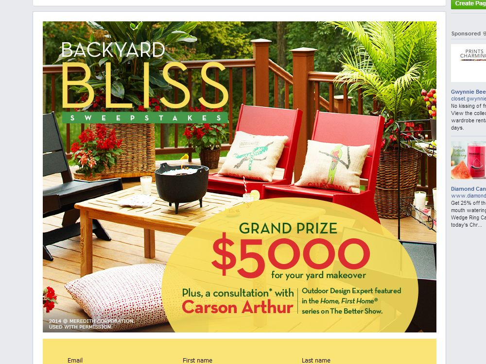 Better Homes And Gardens Real Estate Backyard Bliss Sweepstakes