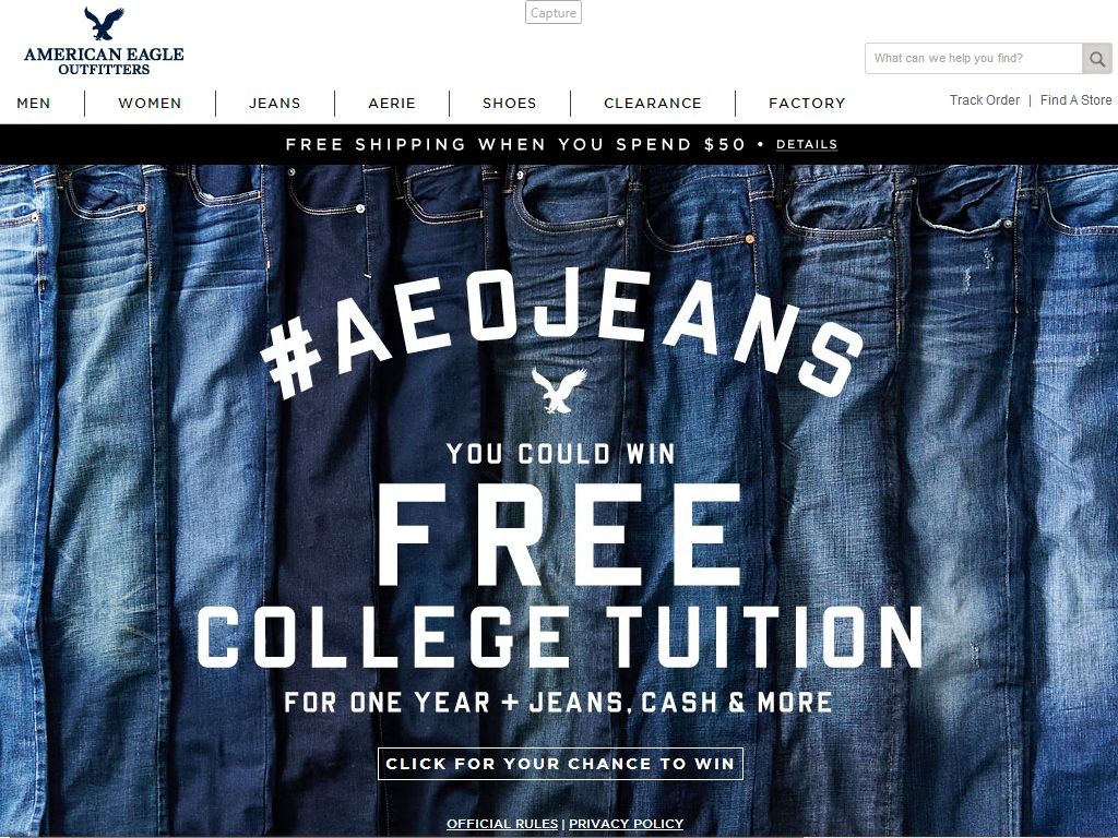 AEO BTS 2014 Denim Try on Event Sweepstakes