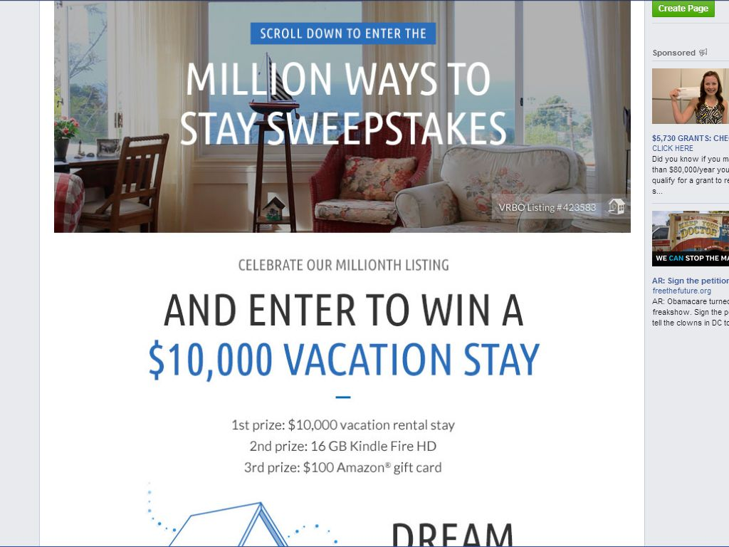 HomeAway Million Ways to Stay Sweepstakes