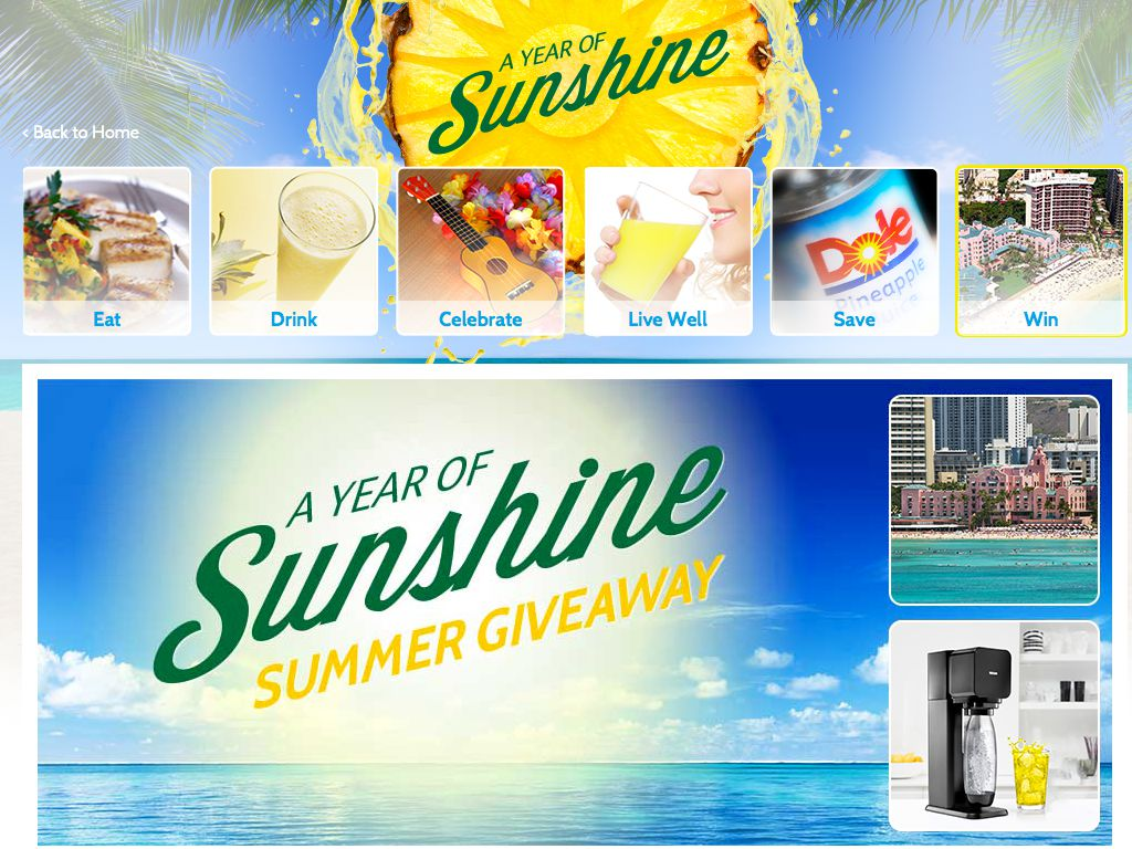 Dole Year of Sunshine Summer Giveaway