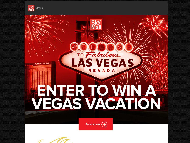 SkyMall Vegas Vacation Sweepstakes