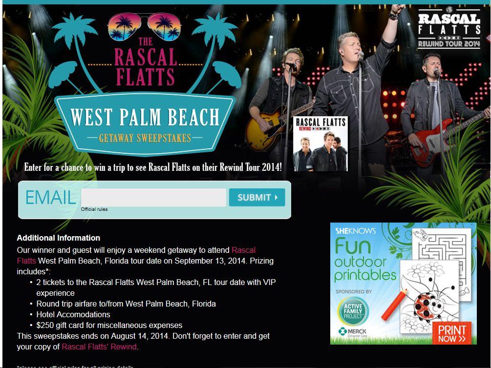 Rascal Flatts West Palm Beach Getaway