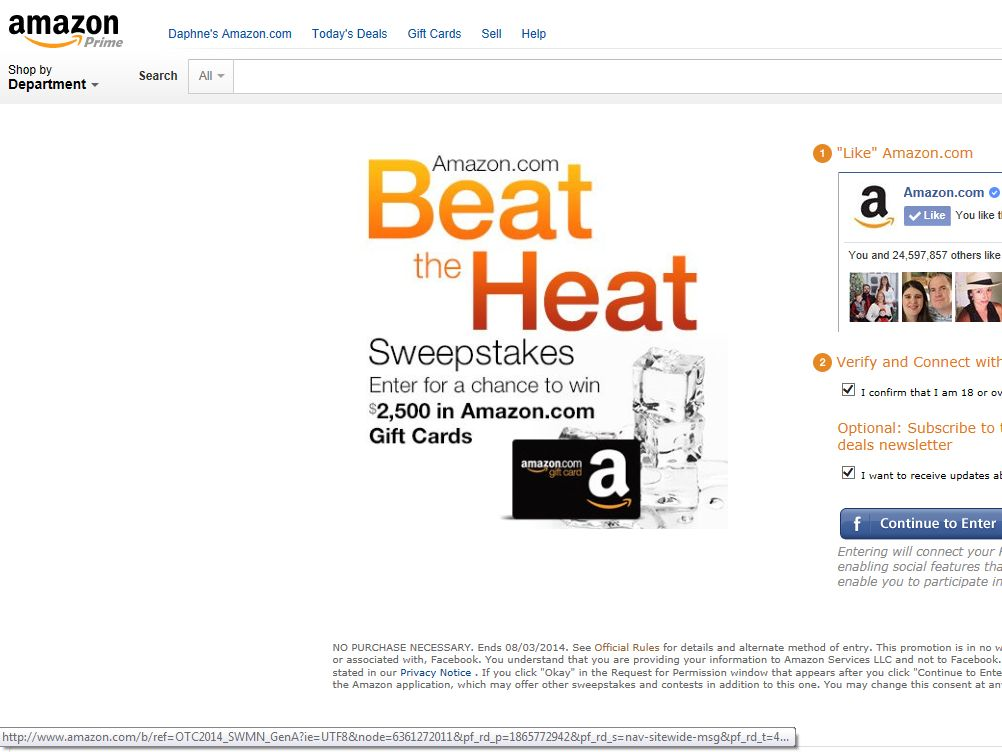 Amazon.com Beat the Heat Sweepstakes
