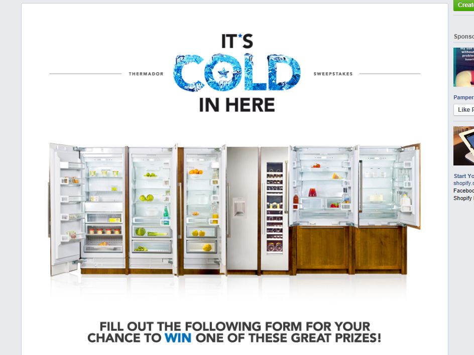 Thermador It's Cold In Here Sweepstakes