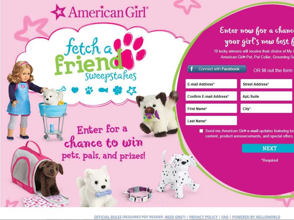 American Girl Fetch A Friend Sweepstakes