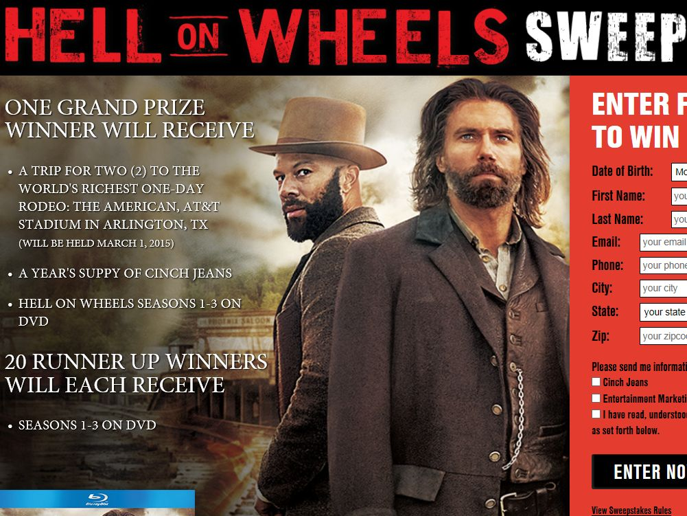 The Hell on Wheels Sweepstakes