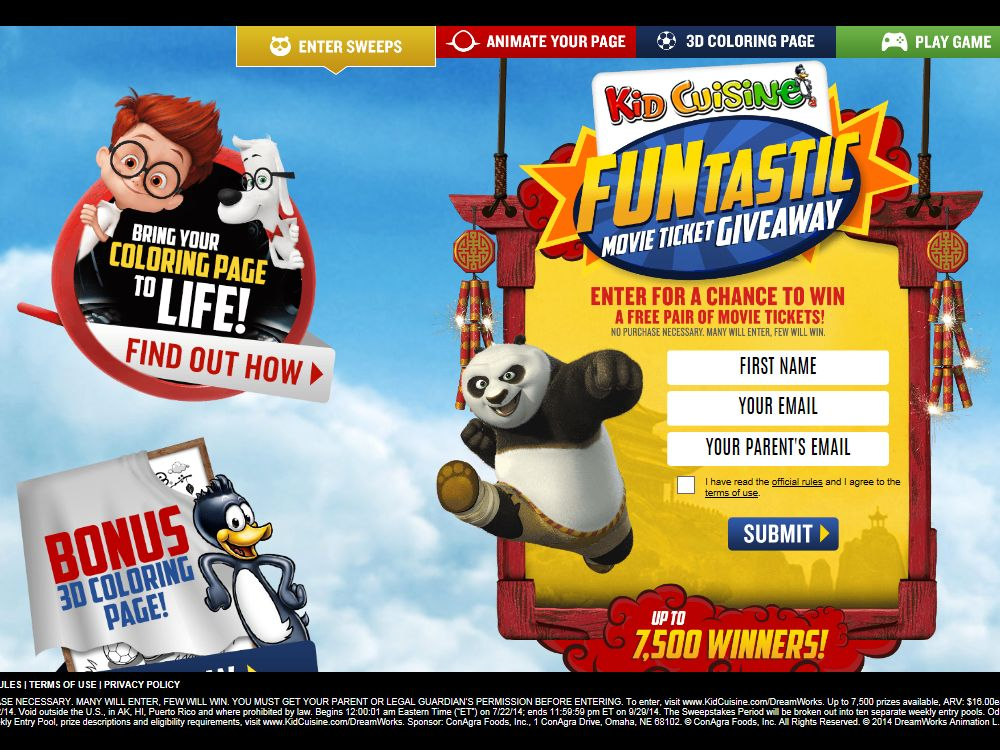 Kid Cuisine Funtastic Movie Ticket Giveaway