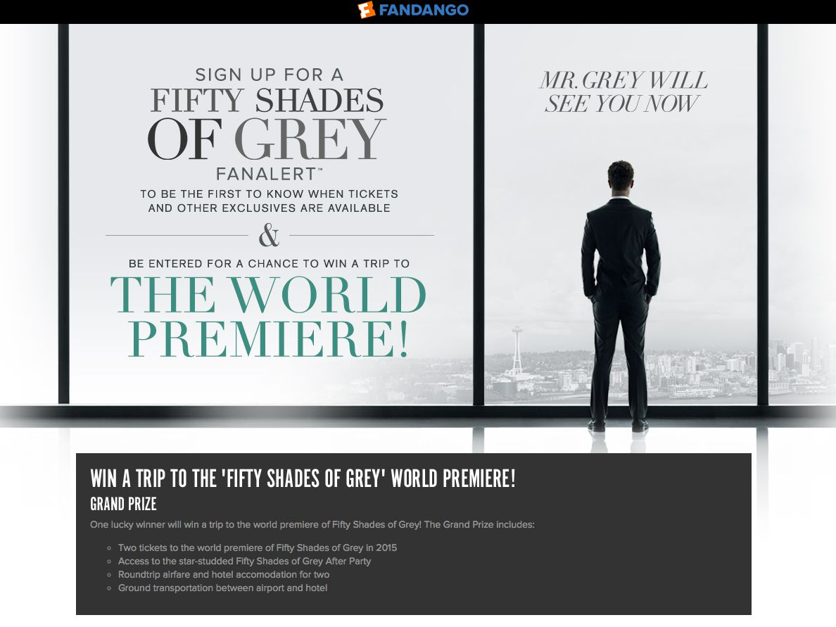 Fandango Fifty Shades of Grey Sweepstakes