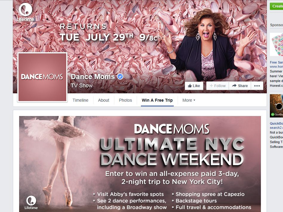 Dance Moms Ultimate NYC Dance Weekend Sweepstakes