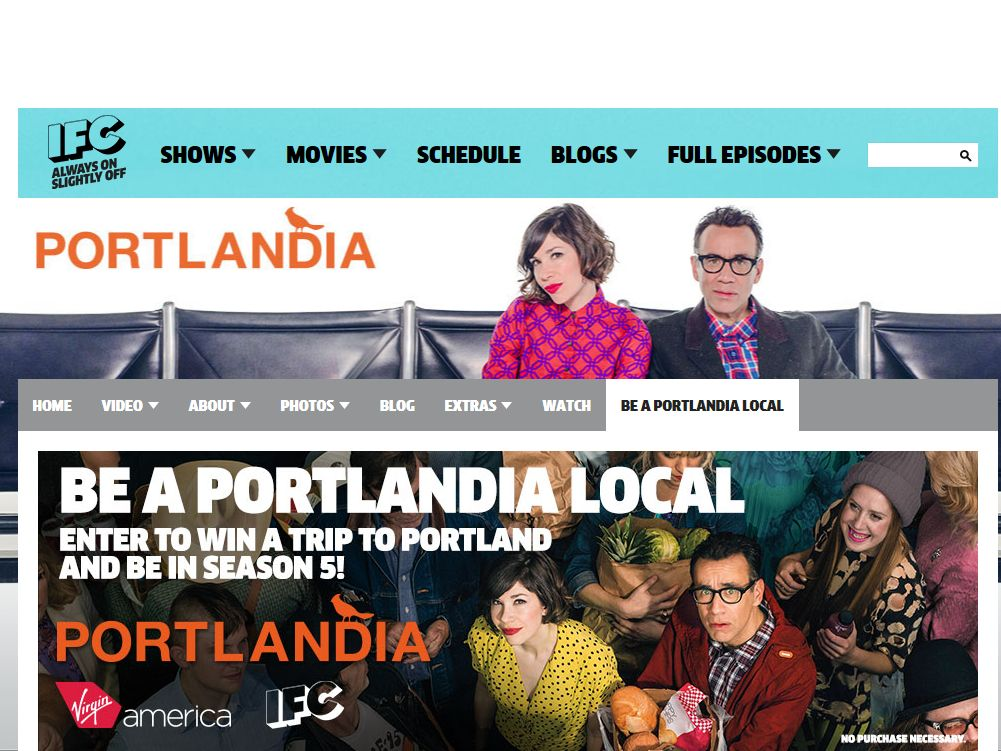"IFC's ""Be A PORTLANLANDIA Local"" Sweepstakes"
