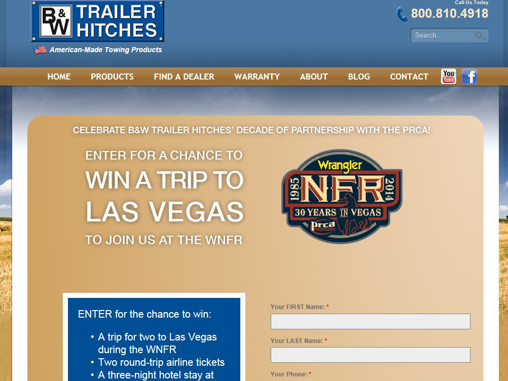 B&W Trailer Hitches – NFR Trip 2014 Sweepstakes