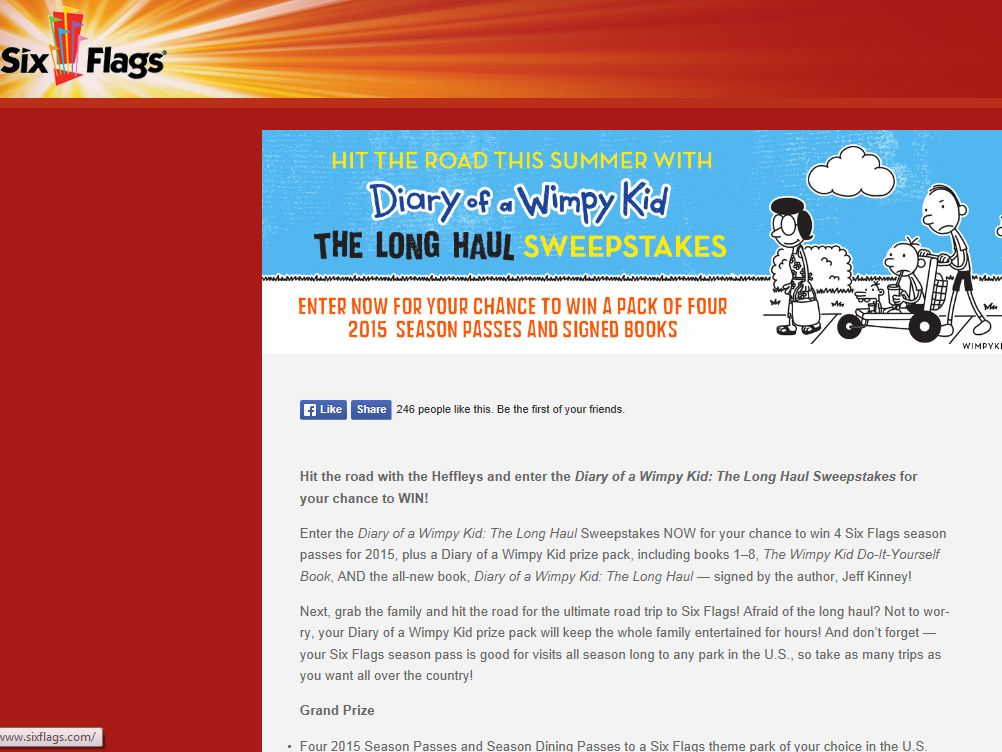 Diary of a wimpy kid the long haul sweepstakes solutioingenieria Choice Image