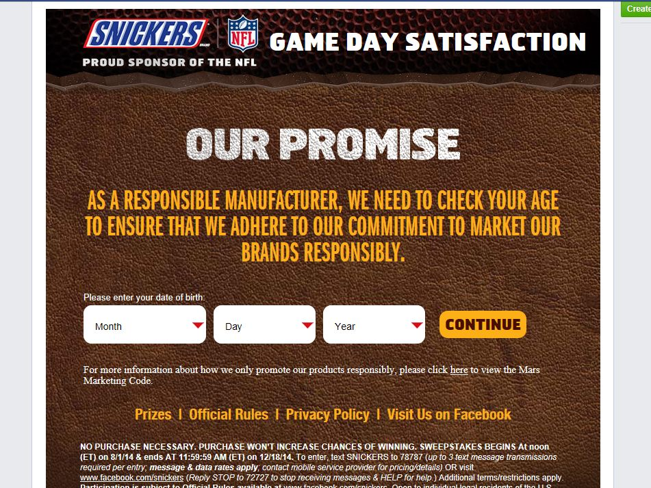 This Game Day Satisfaction Sweepstakes