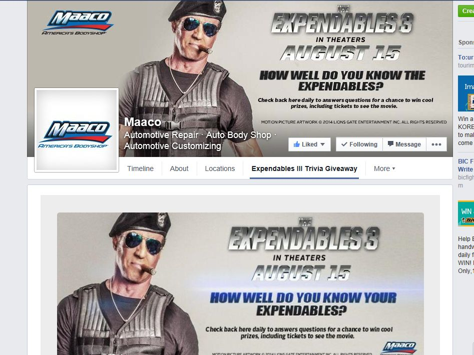 Maaco Expendables III Trivia Giveaway