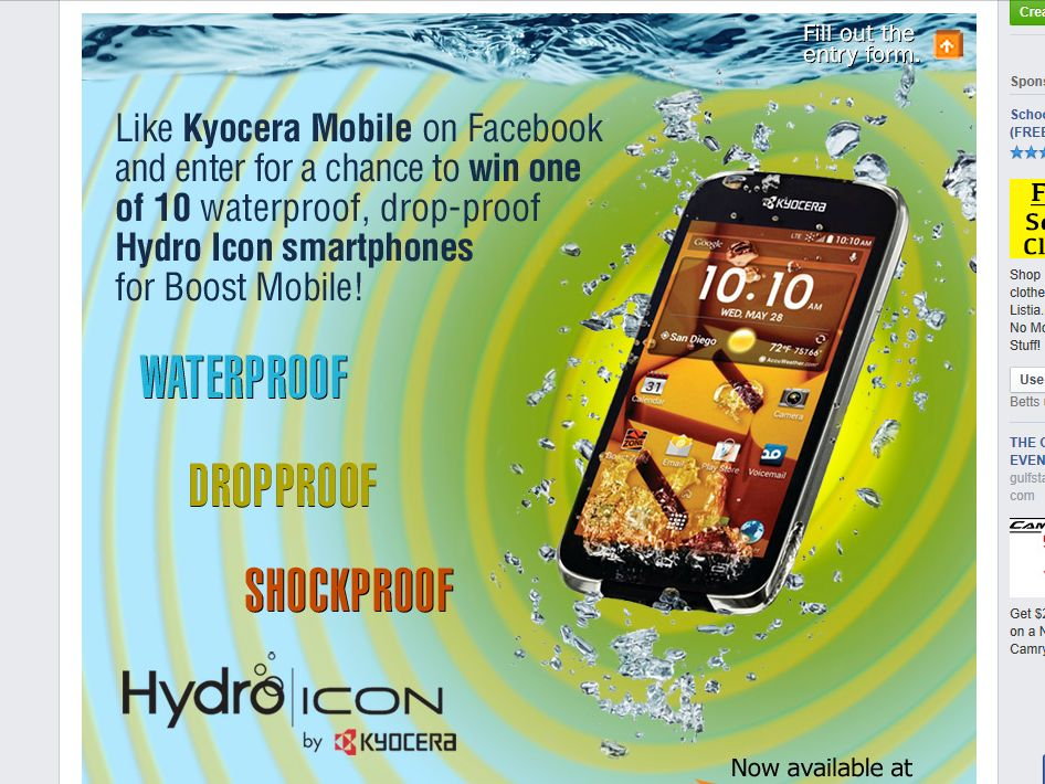 Kyocera Hydro Icon Giveaway Sweepstakes