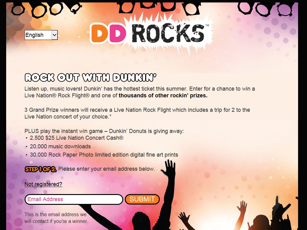 Dunkin' Rocks Summer Sweepstakes