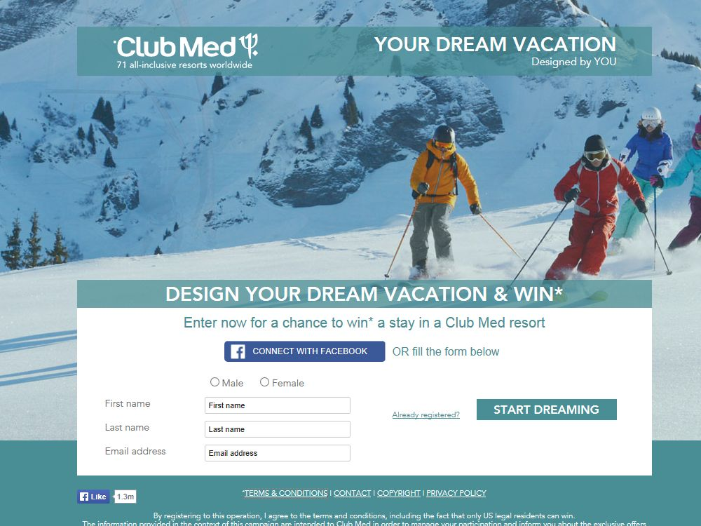 "The ""Your Dream Vacation"" Sweepstakes"