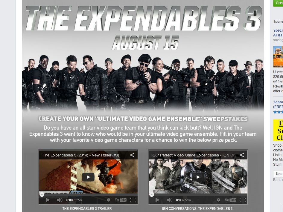 """The IGN's """"The Expendables 3"""" Sweepstakes"""