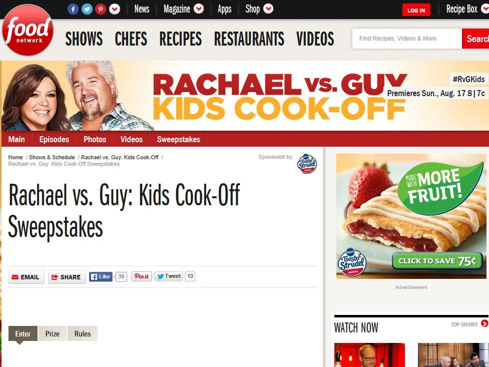Rachael vs. Guy: Kids Cook-Off Sweepstakes