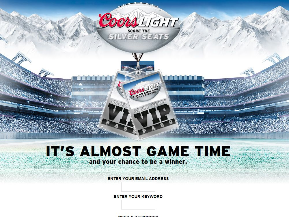 Coors Light Score the Silver Seats Football 2014 Promotion