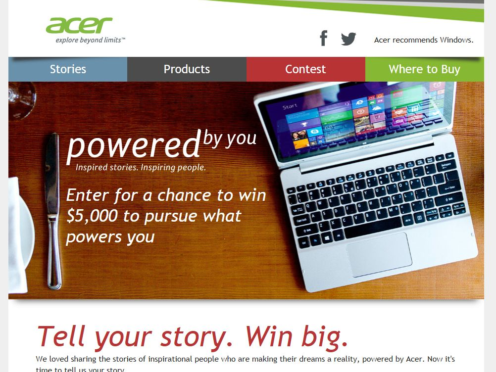 Acer Powered By You Contest