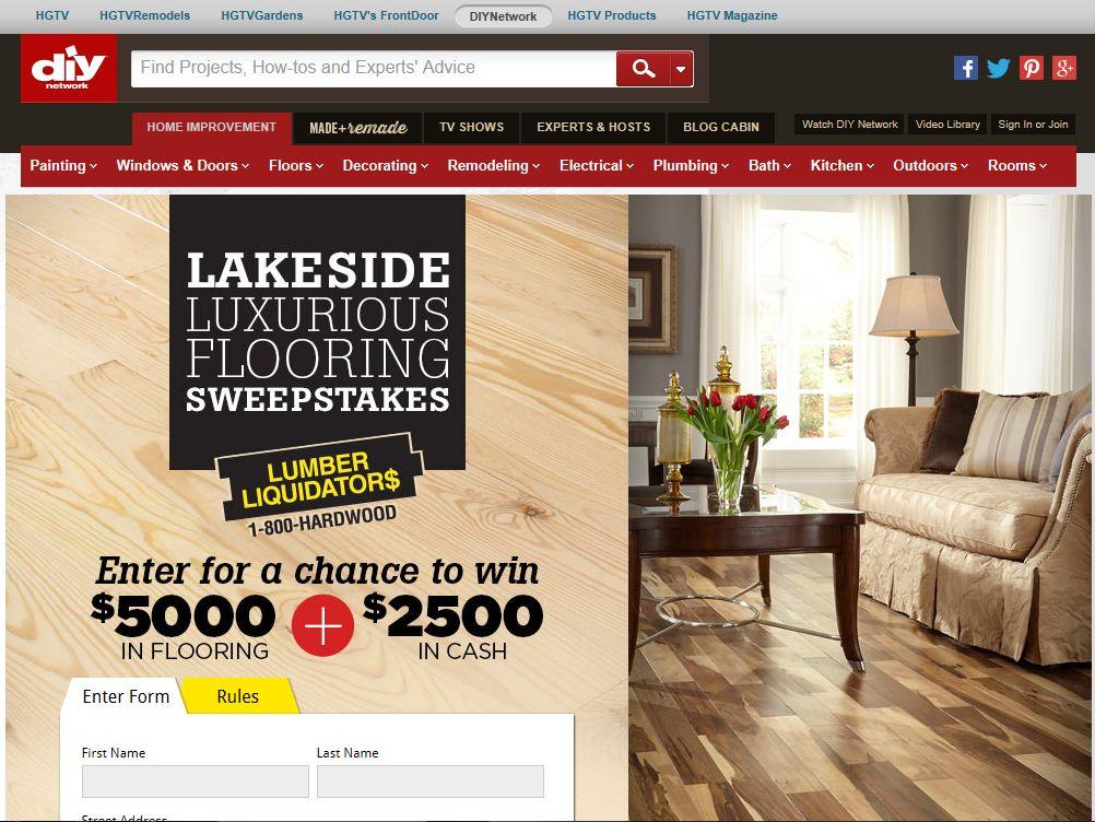 Liquidators Lakeside Luxurious Flooring Sweepstakes
