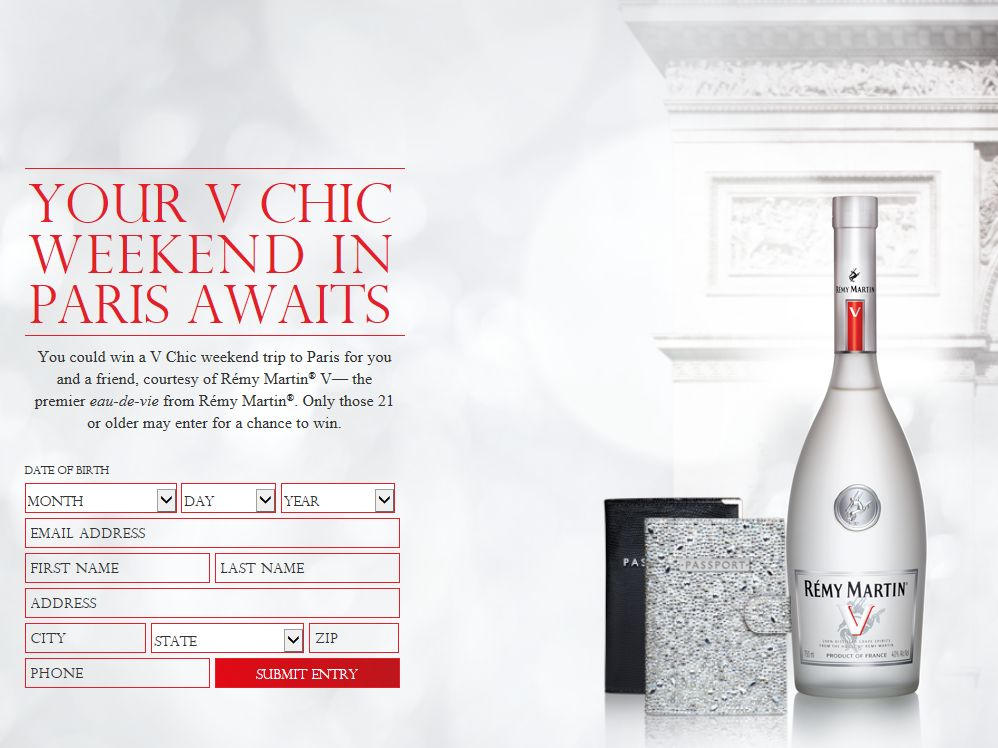 RÉMY COINTREAU Wake Up In Paris Sweepstakes