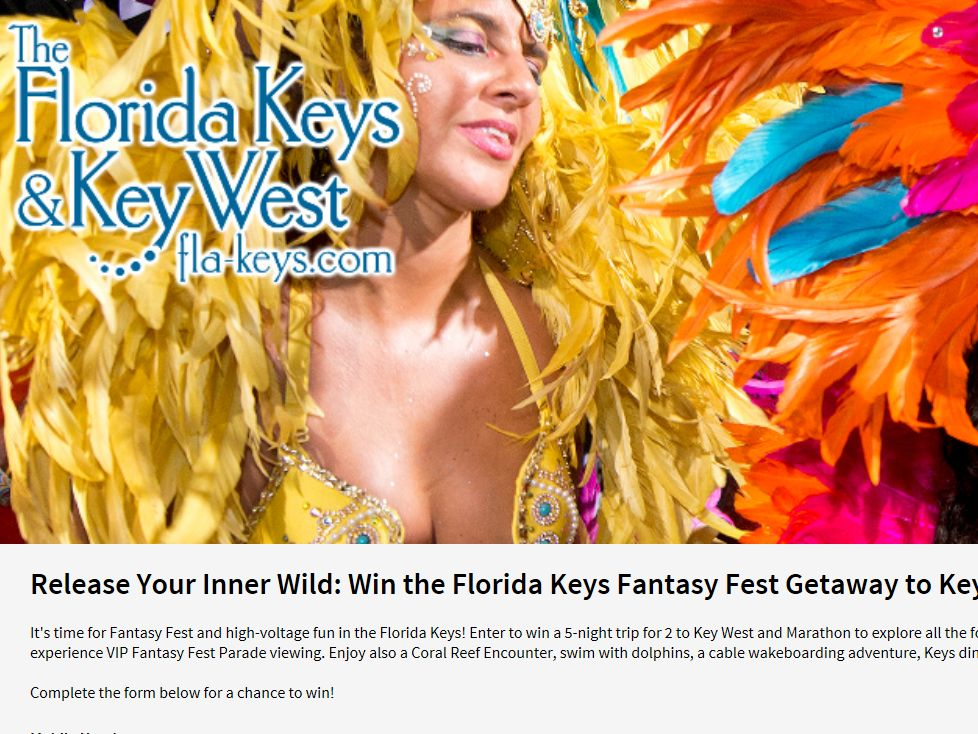 "The ""Release Your Inner Wild in the Florida Keys"" Sweepstakes"