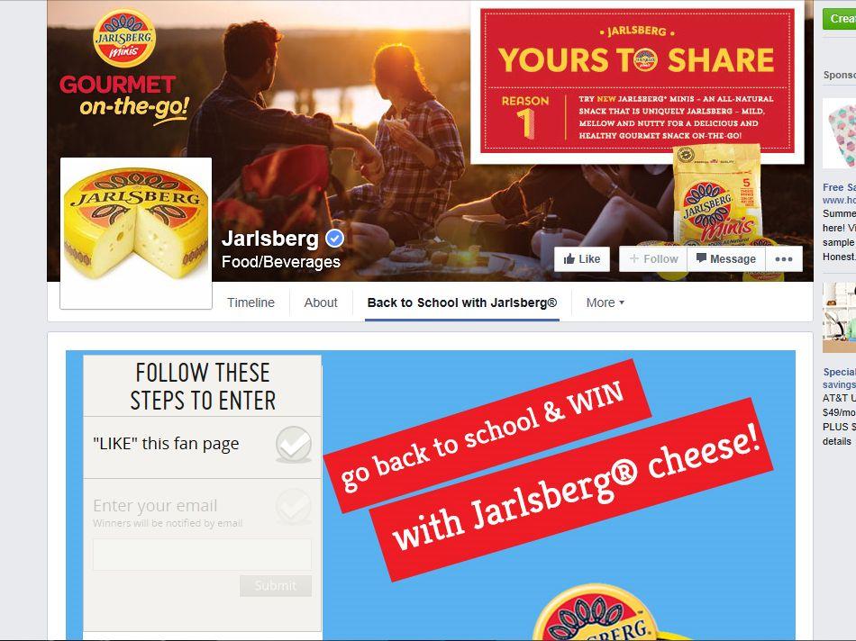 Back to School with Jarlsberg Cheese Sweepstakes