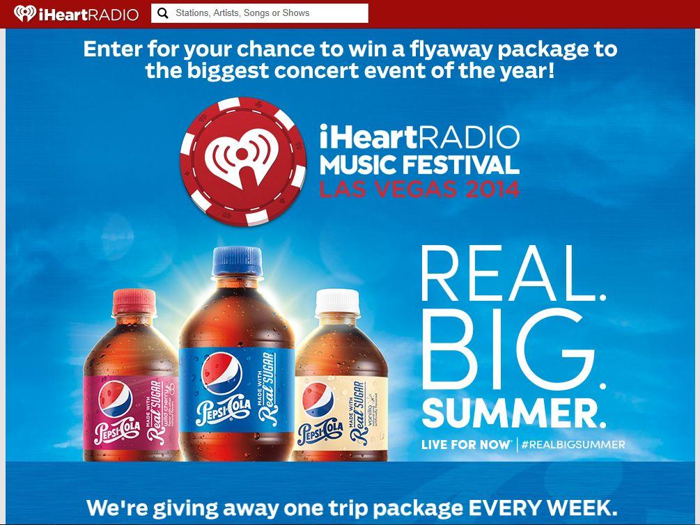 Pepsi's iHeartRadio Music Festival Ticket Sweepstakes