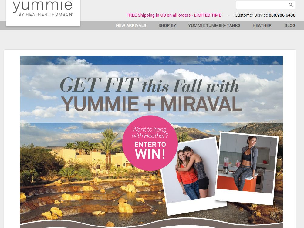 Yummie by Heather Thomson + Miraval Spa 2014 Sweepstakes
