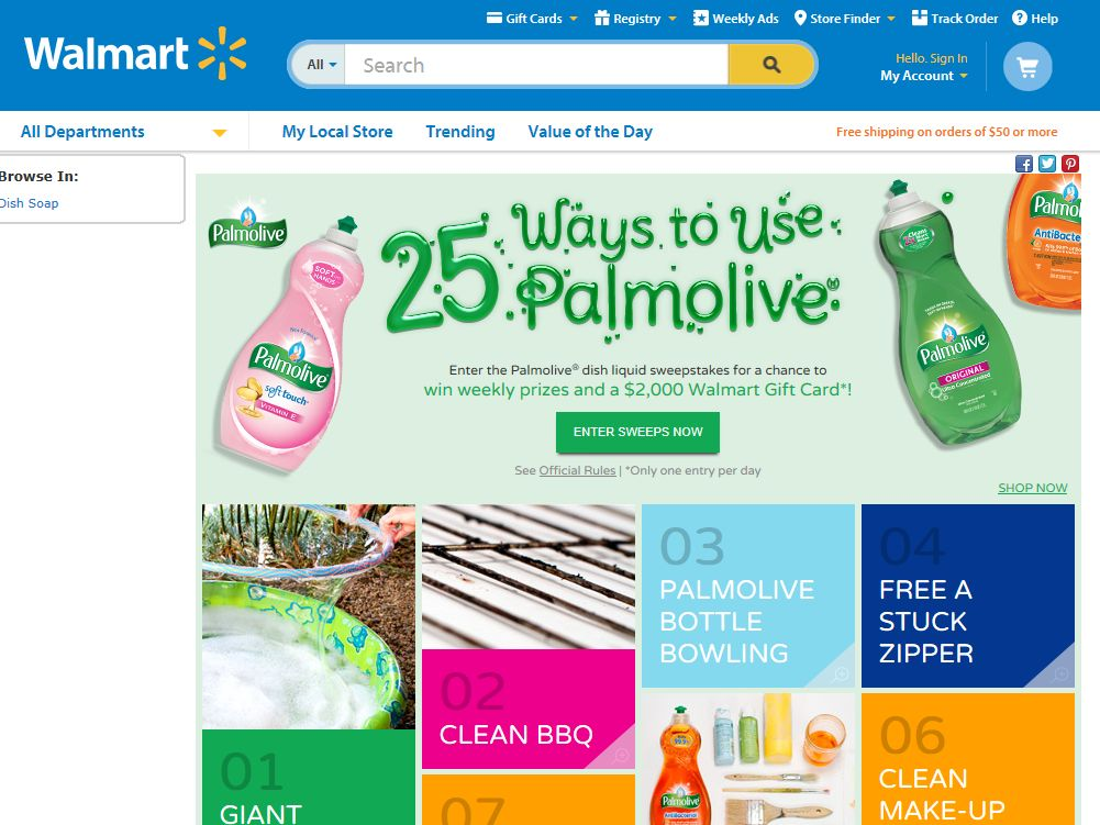 Palmolive Dish Liquid Sweepstakes