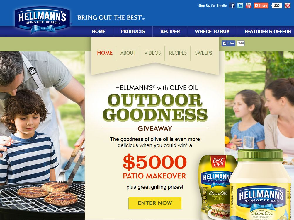 Hellmann's with Olive Oil Outdoor Goodness Giveaway