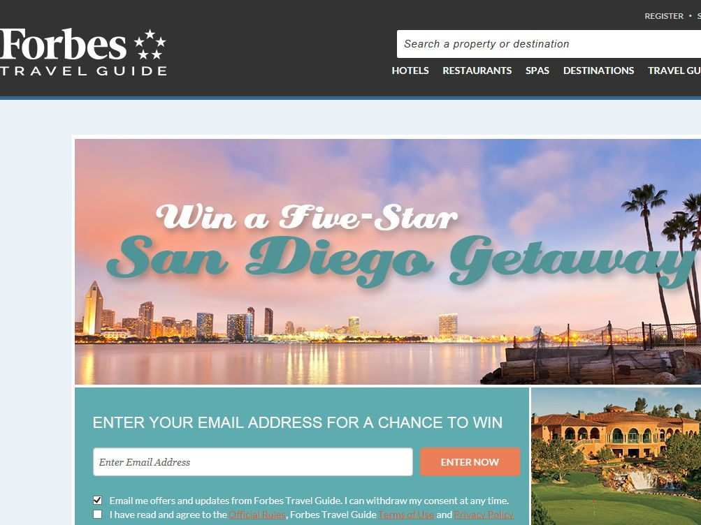 Forbes Five-Star San Diego Getaway