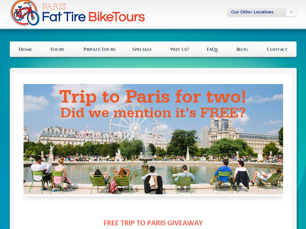 The Fat Tire Paris Sweepstakes