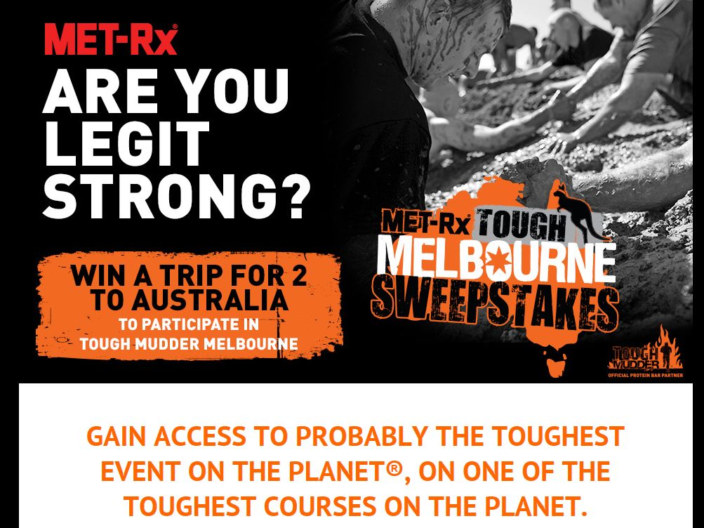 MET-Rxfi Tough Mudder Sweepstakes