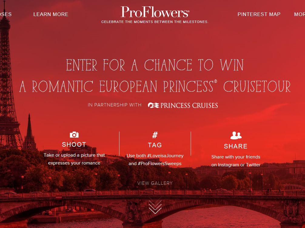 PROFLOWERS.COM Romance Month #LoveIsAJourney Sweepstakes